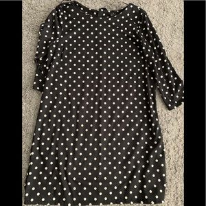 H&M 3/4 sleeve polka dot dress